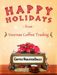 Vournas Coffee Trading Holiday Xmas Card 2016