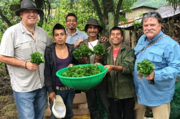 Andrew and Dave Day with Ixtepec Coffee Farmers