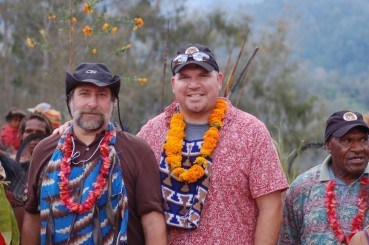 Steve and Andrew in Papua New Guinea