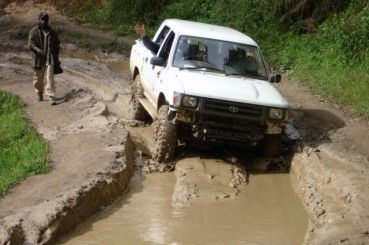 Papua-New-Guinea-Coffee-Access-Road-Muddy-Impasse