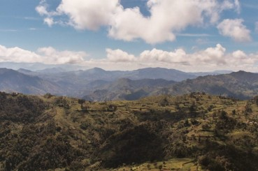 Aerial Photo of The Eastern Highlands of Papua New Guinea