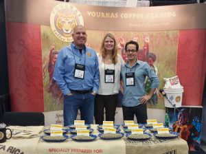 Andrew, Kat & Mike of Specialty Green Coffee Importers, Vournas Coffee Trading at the Anaheim Coffee Fest