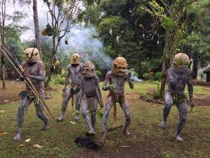 Goroka Mud Men Ceremony, Coffee Growing Community, Papua New Guinea