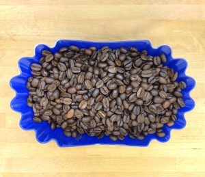 Roasted specialty coffee sample for cupping and scoring.