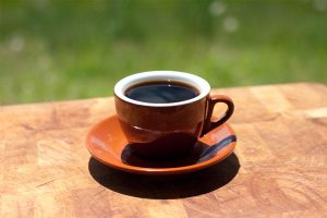 Coffee Cup with saucer and black coffee