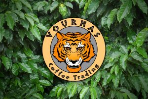Vournas Coffee Trading Logo Graphic