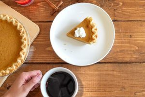 Coffee and A Slice of Pumpkin Pie