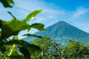Guatemala Atitlan Finca Pampojila Volcan Atitlan